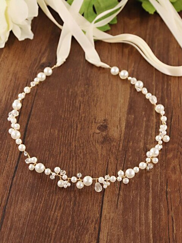 Classic Satijn Sashes With Imitation Pearls
