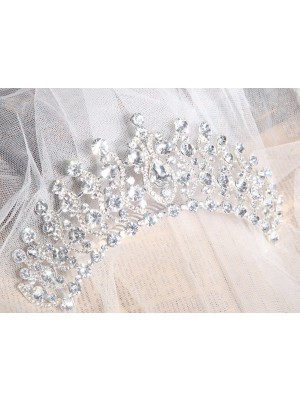 Elegant Alloy Clear Kristals Wedding Headpieces