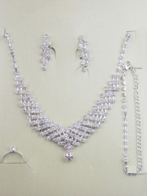 Gorgeous Alloy With Bergkristals Wedding Bridal Ronde Halsry Set