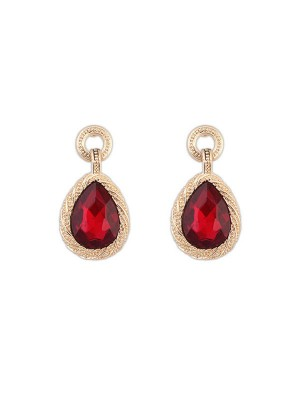 Occident All-match Water Drop Temperament Gemstone Hot Sale Earrings