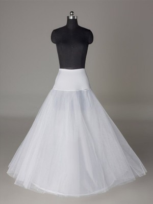 Tule Nettoting A-Line 2 Tier Floor Length Slip Style/Wedding Petticoats