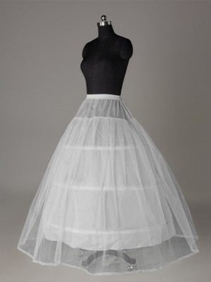 Tule Nettoting Ball-Gown 2 Tier Floor Length Slip Style/Wedding Petticoats