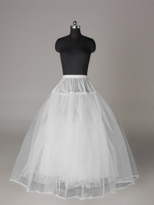 Tule Nettoting Ball-Gown 3 Tier Floor Length Slip Style/Wedding Petticoats
