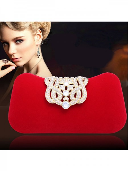 Elegant Bergkristal Pillow Party/Evening Bags