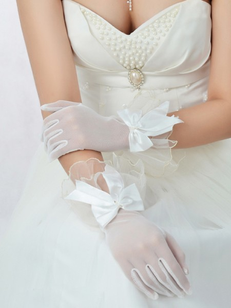 Best Tule Strik Wedding Gloves