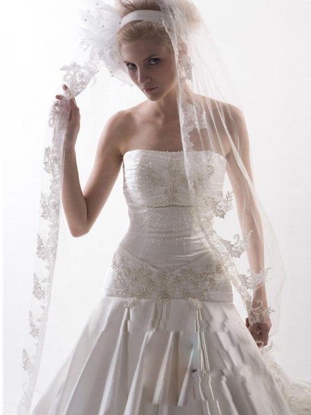 Flower Tule Wedding Veils