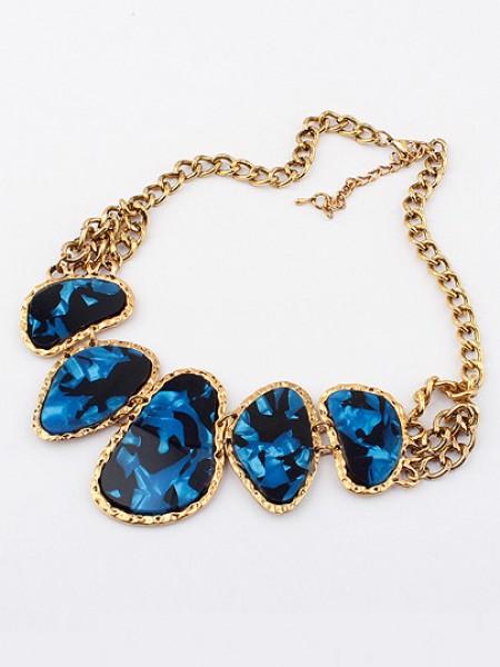 Occident Retro Hyperbolic Colored stones New Stylish Hot Sale Necklace