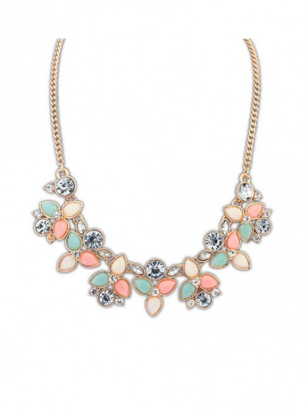 Occident Stylish Sweet Fresh Gemstone Hot Sale Necklace