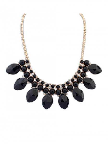 Occident Bohemia Big Gemstone Hot Sale Necklace