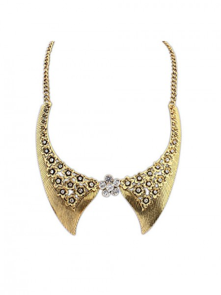 Occident Stylish Retro Flowers Fake collar Hot Sale Necklace