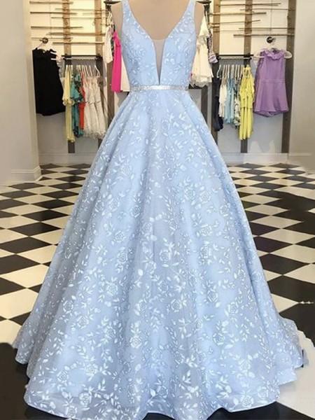 A-lijn/Prinses Mouwless Satijn Appliqué Bandjes Floor-Length Dresses