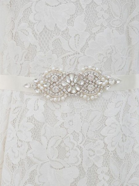 Elegant Satijn Sashes With Bergkristals/Imitation Pearls