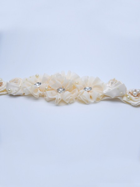 Fancy Satijn Sashes With Kristals/Flowers